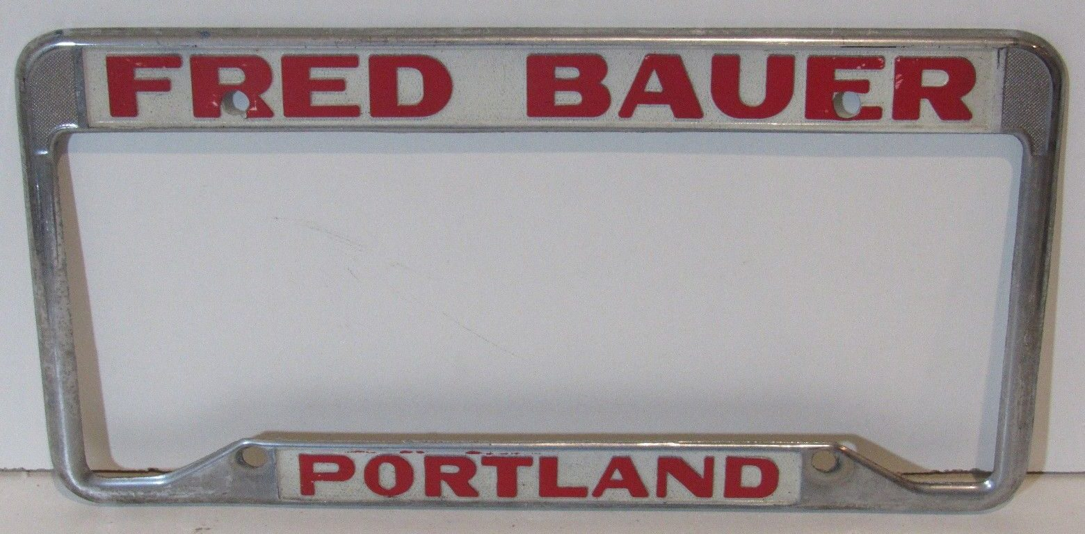 Fred Bauer Liccence Plate Frame