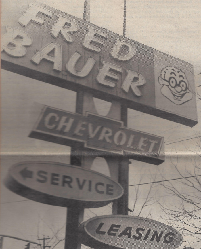 Fred Bauer Sign