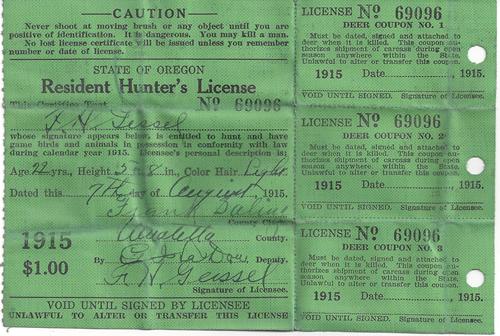Hunting 1915