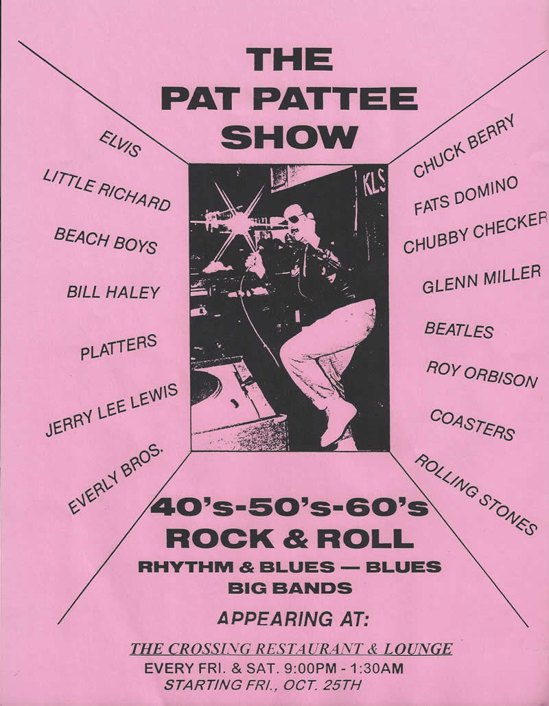 Pat Pattee flyer