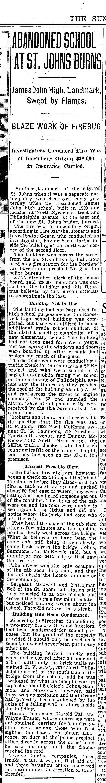 Sep 23 1934 Fire at James John High School CROP 01.