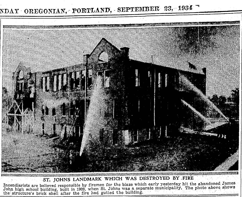 Sep 23 1934 Fire at James John High School CROP 02