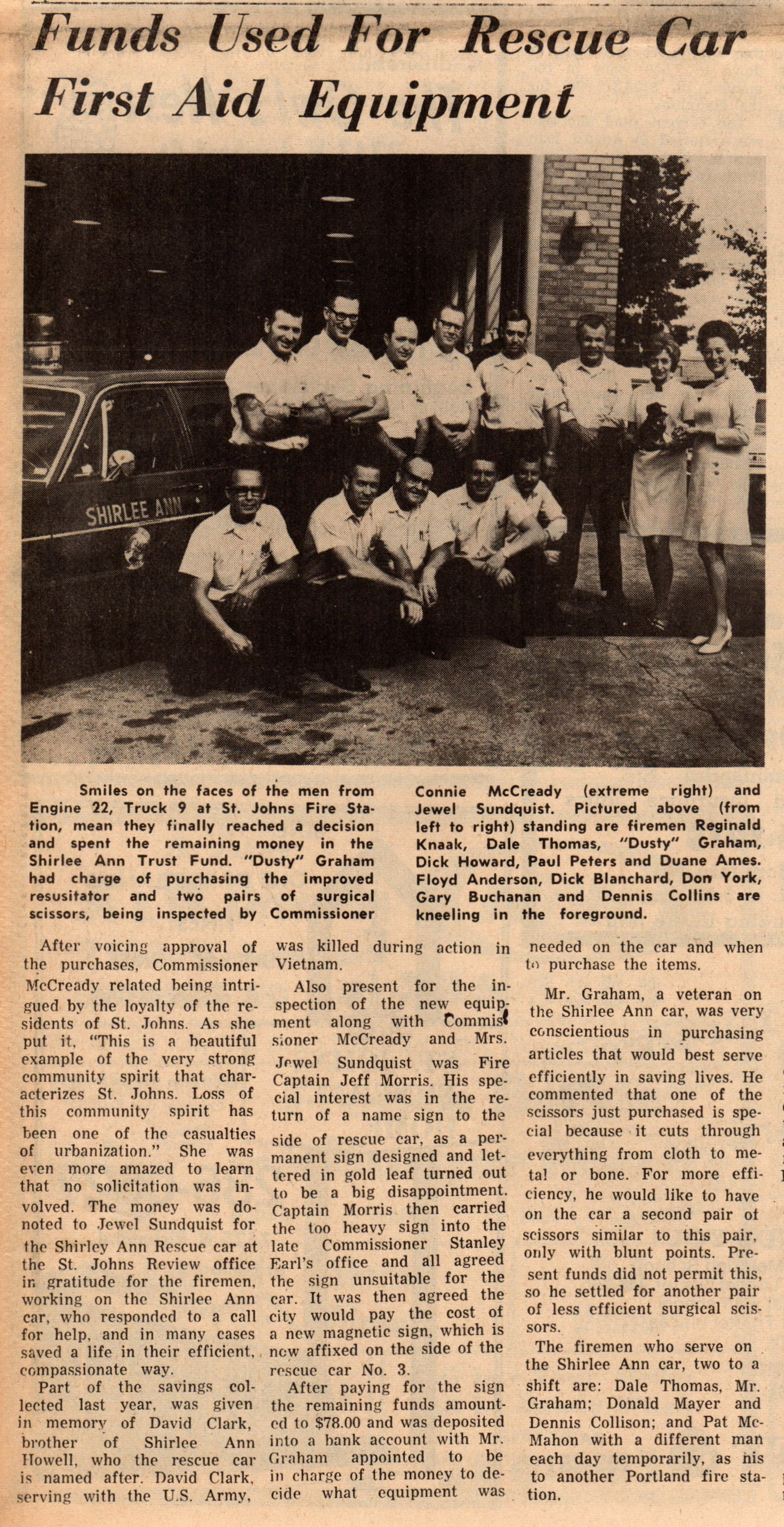 Shirlee Ann article Sep 1970