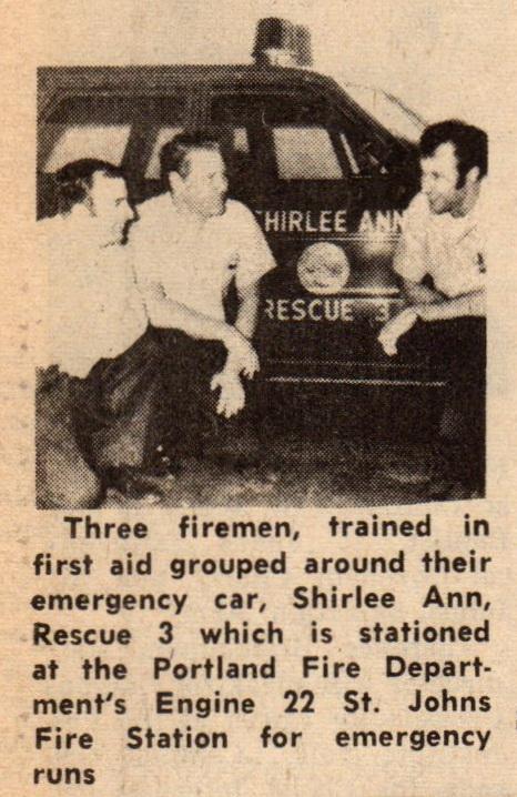 Shirlee Ann car fireman Mar 1970