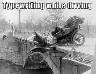 typewriting-while-driving