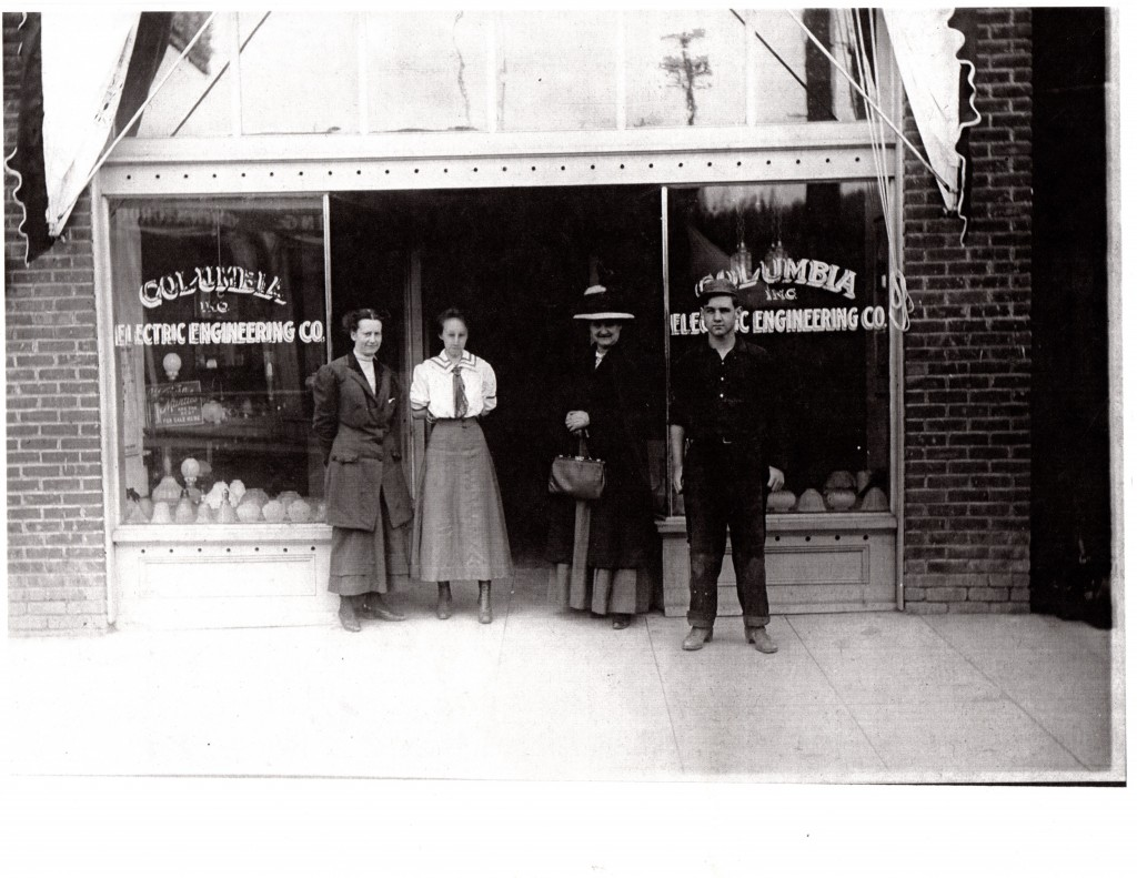 103 S Jersey in Holbrook Bldg. Gertrude Dearlove, Ella Edmonson, unknown, unknown