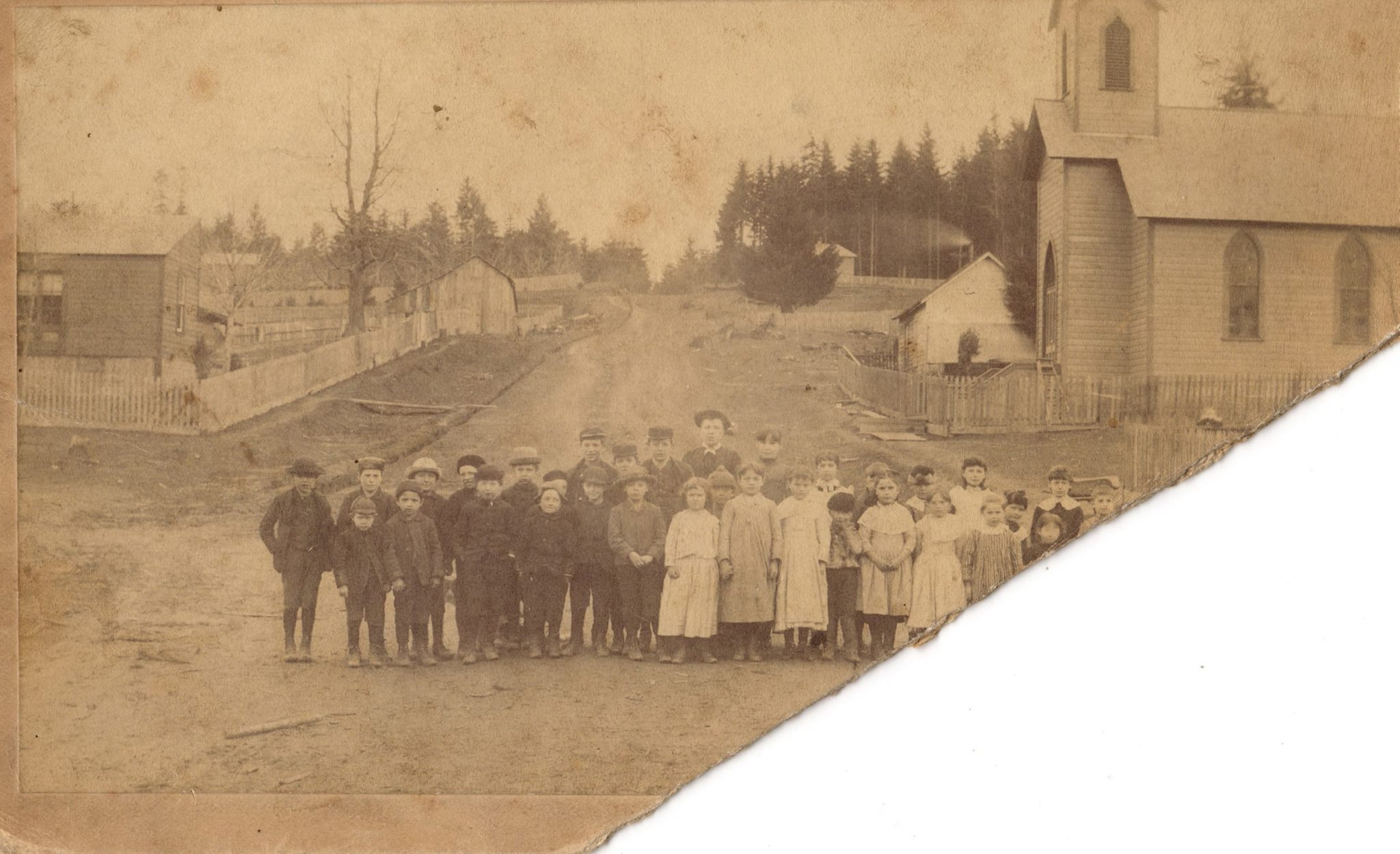 1890 School Children on the foot of John Ave.