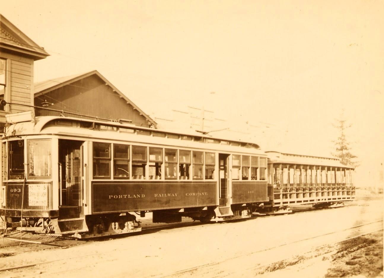 Car 603 portland railway co.