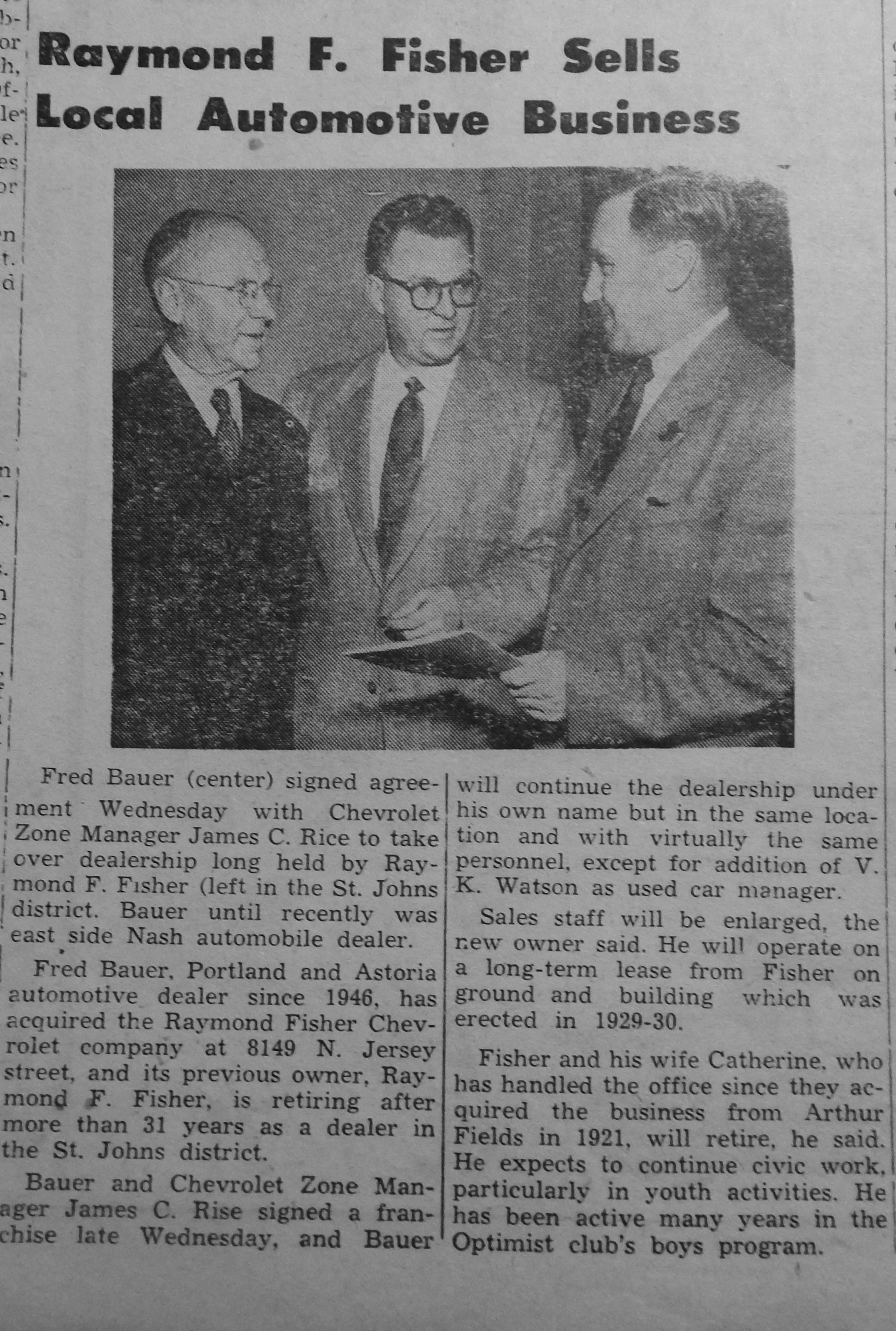 Jan 14 1954 Fisher to Bauer