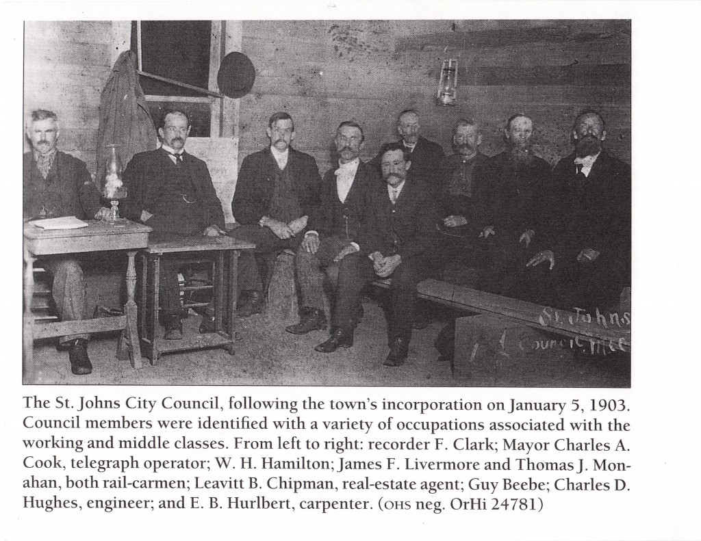 Jan 5 1903 St Johns City Council in original city hall