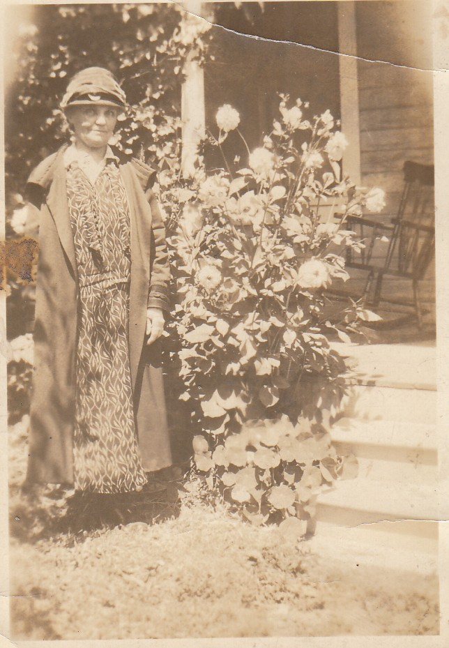 Unknown lady in with Sitton school photos