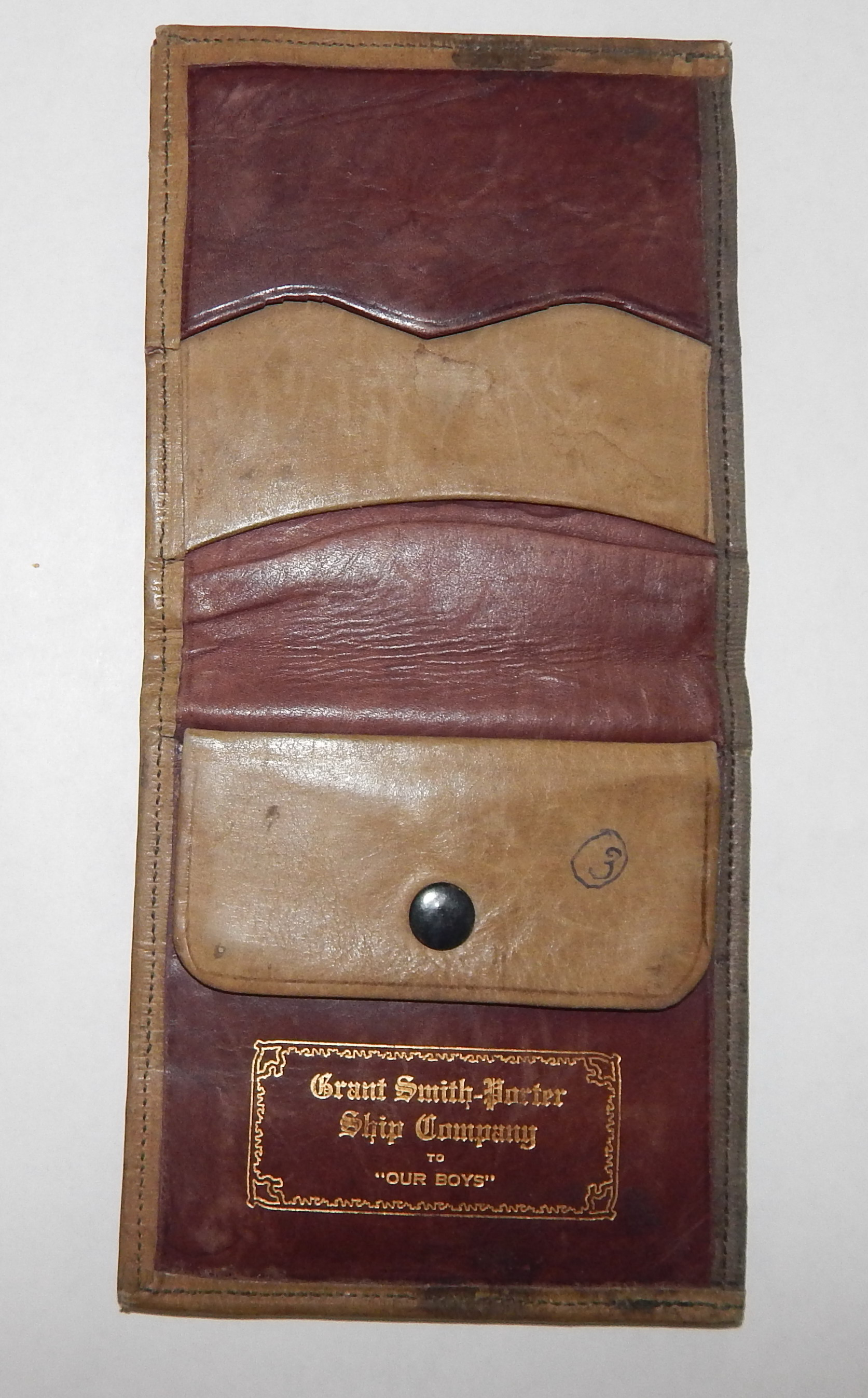 Wallet given to soldiers in WW I by the Grant, Porter, Smith ship building co. (3)