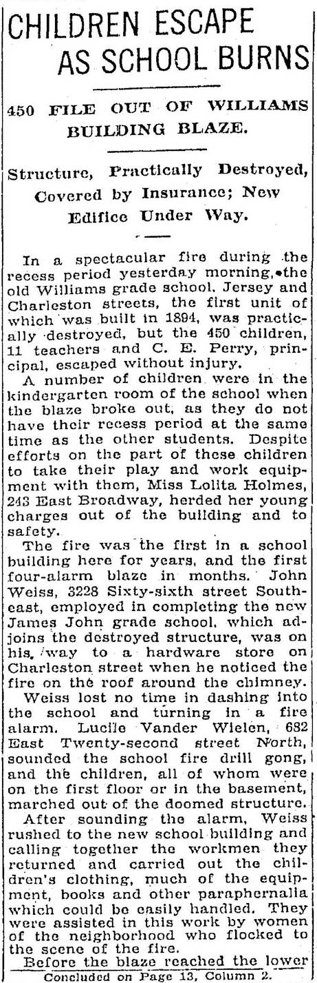 Willams- Central school fire Jan 13 1930 (1)