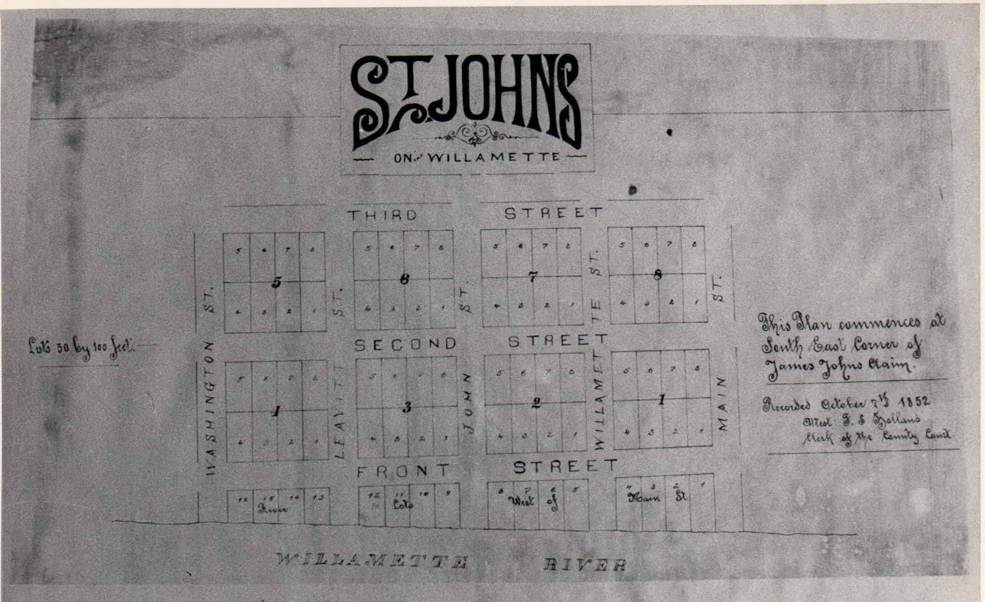 James John original plat 1852