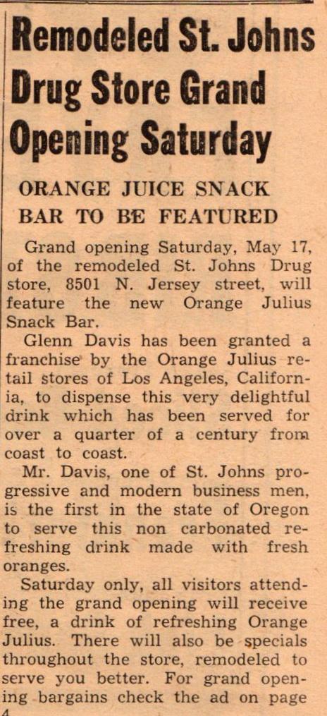 St Drugs Store Remodel Glenn Davis 8501 n Jersey May 17 1952 (1)