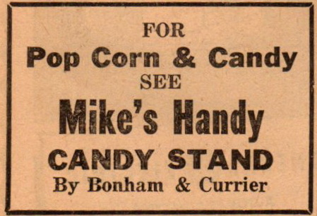 Mike's Handy Candy Stand by Bonham and Currier Oct 1950