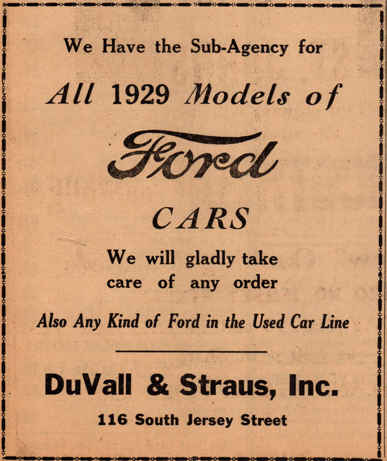 duvall-staus-ford-agency-116-s-jersey-feb-1929
