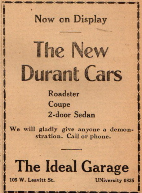 new-durant-cars-at-the-ideal-garage-105-w-leavitt-aug-1928-1